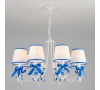 Подвесная люстра с абажурами 60066/8 белый/синий