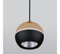 Подвесной светодиодный светильник DLS023 9W 4200K черный/золото