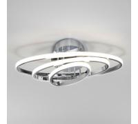 Потолочный светодиодный светильник с пультом управления 90237/3 хром