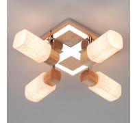 Спот 20029/4 хром / светлое дерево