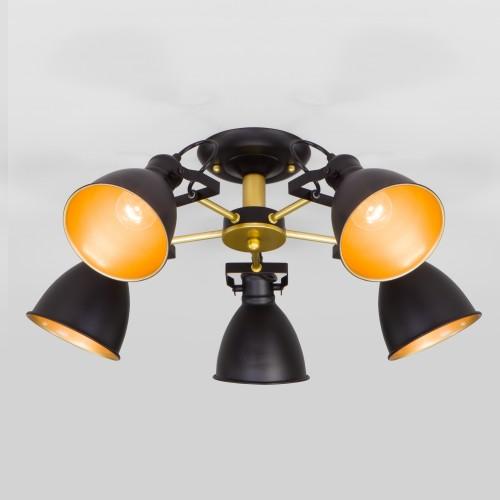 Люстра с металлическими плафонами 70112/5 черный