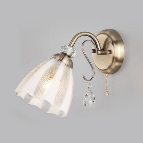 Настенный светильник 30155/1 античная бронза