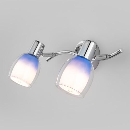 Настенный светильник со стеклянными плафонами 20119/2 синий