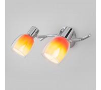 Настенный светильник со стеклянными плафонами 20119/2 оранжевый