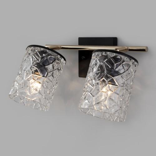 Настенный светильник с выключателем 20095/2 черный/золото