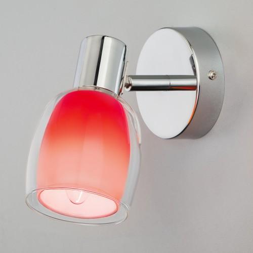 Настенный светильник с поворотным плафоном 20119/1 красный
