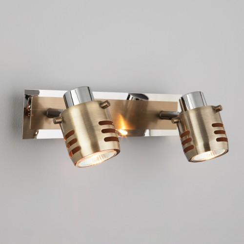Настенный светильник 23463/2 хром / античная бронза
