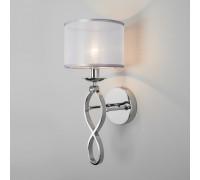 Настенный светильник с абажуром 60109/1 хром