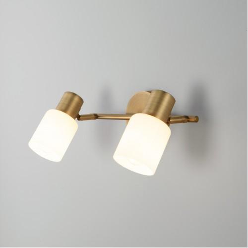 Настенный светильник с поворотными плафонами 20089/2 бронза