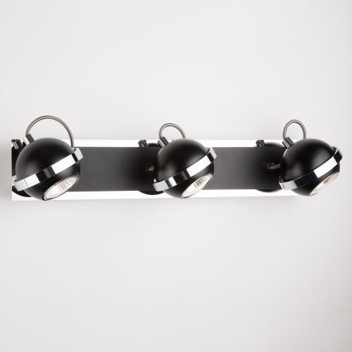 Настенный светильник с поворотными плафонами 20056/3 черный
