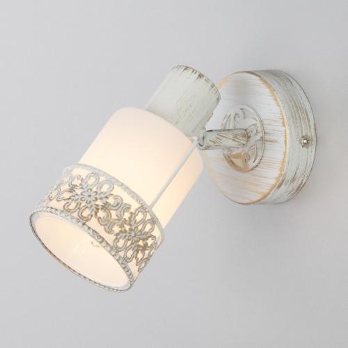 Настенный светильник 20025/1 белый с золотом
