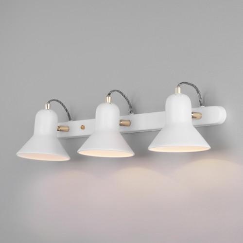 Настенный светильник с поворотными плафонами 20083/3 белый/золото