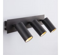 Светодиодный настенный светильник с поворотными плафонами 20066/3 LED черный/золото
