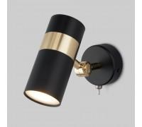 Настенный светильник с выключателем 20096/1 черный/золото