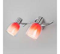 Настенный светильник со стеклянными плафонами 20119/2 красный