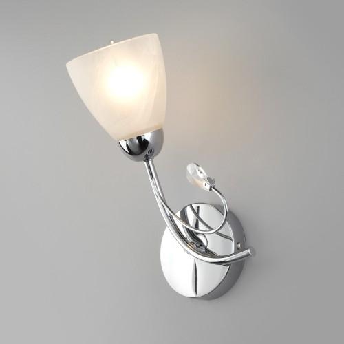 Настенный светильник со стеклянным плафоном 30169/1 хром