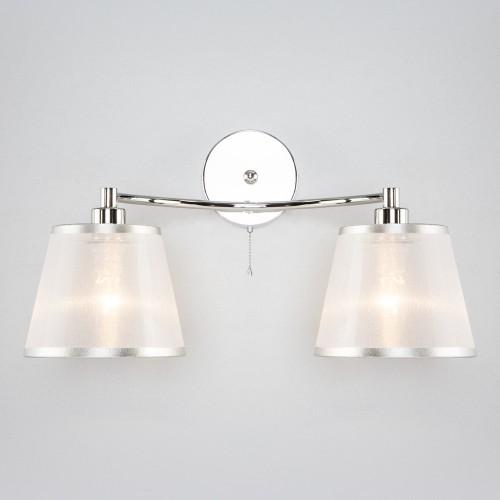 Настенный светильник с абажурами 60094/2 хром