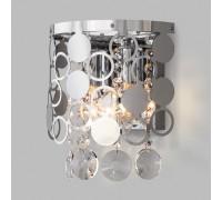 Настенный светильник с хрусталем 10114/2 хром/прозрачный хрусталь Strotskis