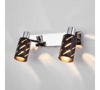 Настенный светильник с поворотными плафонами 20090/2 черный/хром
