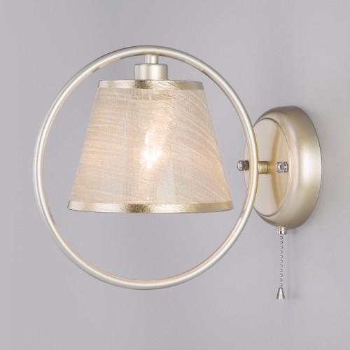 Настенный светильник с абажуром 60093/1 перламутровое золото