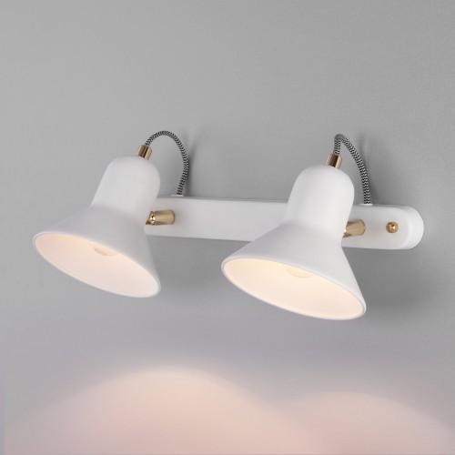 Настенный светильник с поворотными плафонами 20083/2 белый/золото