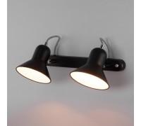 Настенный светильник с поворотными плафонами 20083/2 черный/хром