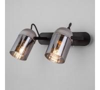Настенный светильник с поворотными плафонами 20122/2 черный/тертый серый