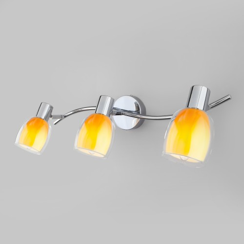 Настенный светильник со стеклянными плафонами 20119/3 желтый