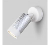 Настенный светильник с выключателем 20088/1 белый/серебро