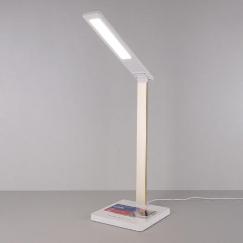 Настольная лампа с беспроводной зарядкой Lori белый/золотой (TL90510)