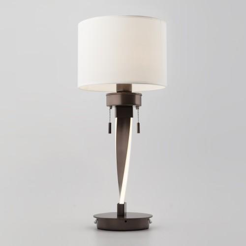 Настольная лампа со светодиодной подсветкой арматуры 991 кофе