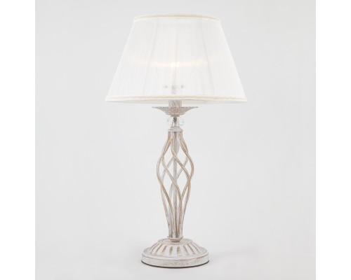 Настольная лампа 01002/1 белый с золотом