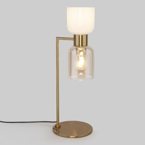 Настольная лампа со стеклянными плафонами 01084/2 латунь