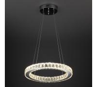 Светильник подвесной с хрусталем и пультом 90023/1 хром