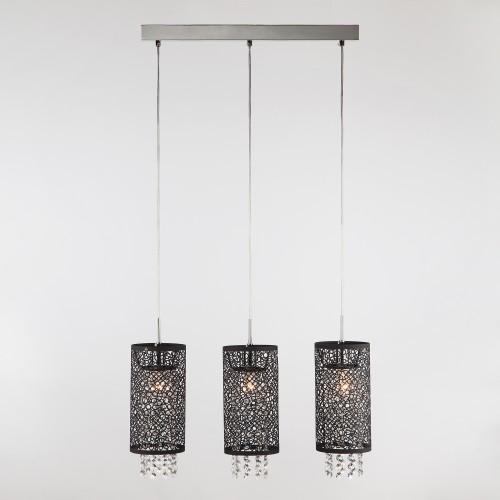 Подвесной светильник с хрусталем 1180/3 хром