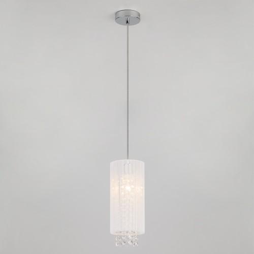 Подвесной светильник с хрусталем 1188/1 хром