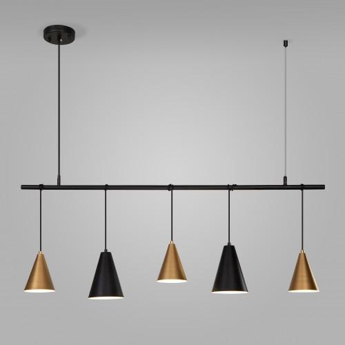 Подвесной светильник 50088/5 черный/золото