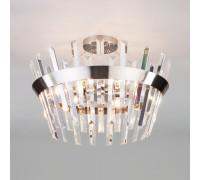 Потолочная люстра с хрусталем 10111/5 сатин-никель/прозрачный хрусталь Strotskis