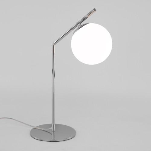 Настольная лампа со стеклянным плафоном 01082/1 хром