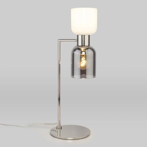 Настольная лампа со стеклянными плафонами 01084/2 никель