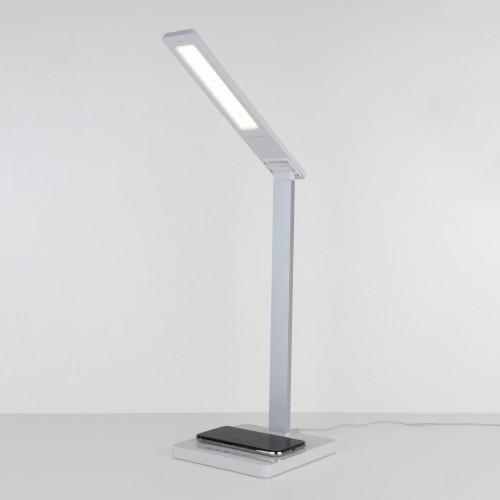 Настольная лампа с беспроводной зарядкой Lori белый/серебряный (TL90510)