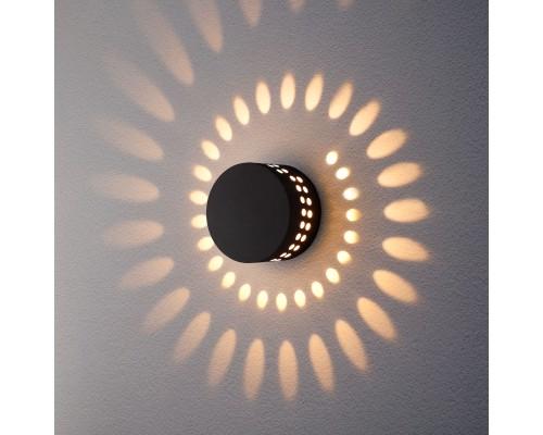 Arkada черный уличный настенный светодиодный светильник 1585 TECHNO LED