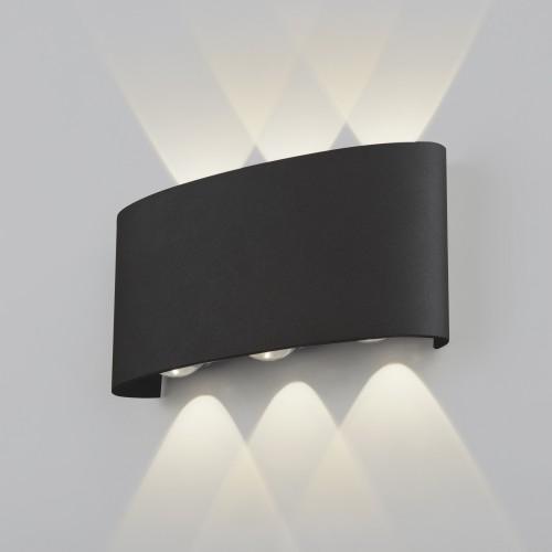 Twinky trio чёрный уличный настенный светодиодный светильник 1551 TECHNO LED
