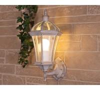 Уличный настенный светильник Capella белое золото