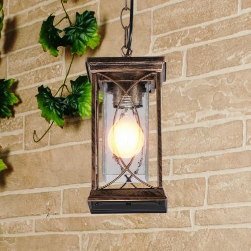 Spica H черное золото Подвесной уличный светильник IP33 GL 1026H