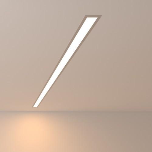 Линейный светодиодный встраиваемый светильник 128см 25Вт 3000К матовое серебро 101-300-128