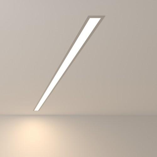 Линейный светодиодный встраиваемый светильник 128см 25Вт 4200К матовое серебро 101-300-128