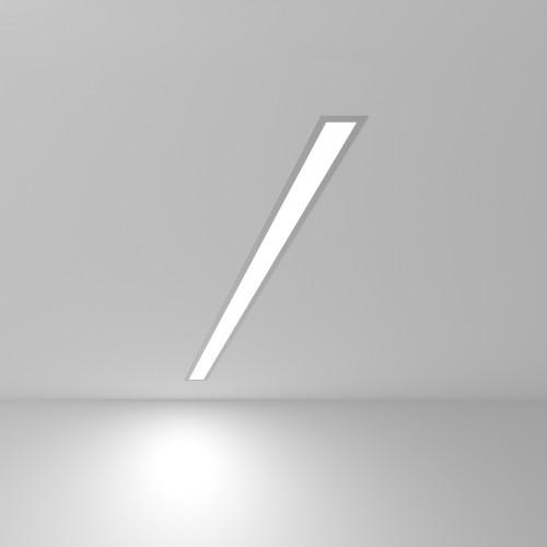 Линейный светодиодный встраиваемый светильник 103см 20Вт 6500К матовое серебро 101-300-103