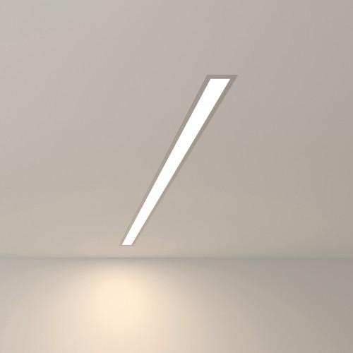 Линейный светодиодный встраиваемый светильник 103см 20Вт 4200К матовое серебро 101-300-103
