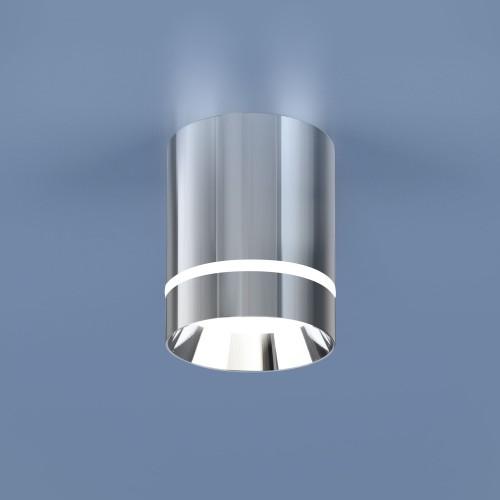Накладной потолочный светодиодный светильник DLR021 9W 4200K хром